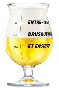 Un verre Duvel collector de la Biennale de Lyon
