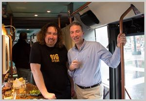 Xavier Thuret MOF Fromager et Thierry Bénitah, directeur de La Maison du Whisky