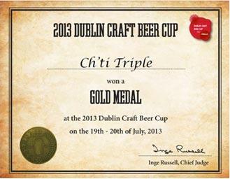 La Ch'ti Triple médaille d'or à Dublin