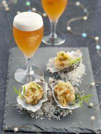 Beignets d'huîtres aux herbes à la bière de Noël