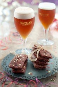 Financiers au chocolat et aux marrons et bière de Noël © Patricia Kettenhofen/Brasseurs de France