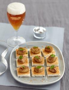 Foie Gras d'Oie rôti aux Epices et Spéculoos, bière de Noël
