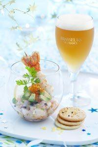 Tartare de langoustine et bière de Noël ©Patricia Kettenhofen / Brasseurs de France