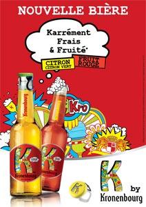 K by Kronenbourg, la bière aux fruits