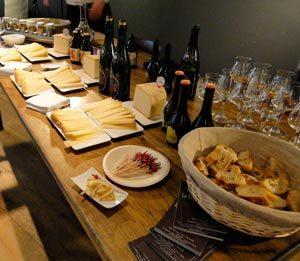 Bières et fromage Pur Brebis des Pyrénées