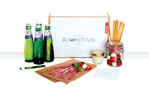 La Piccola Nastro Azzuro dans une box pour l'apéritif