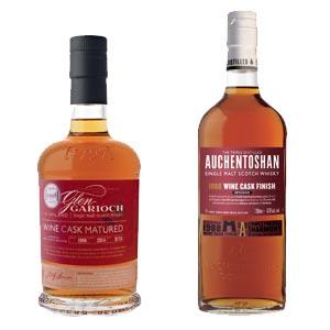 Les whiskies Glen Garioch et Auchentoshan vieillis en fûts de vins français