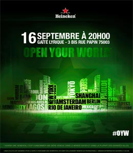 Soirée Open Your World Heineken