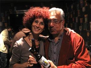 Laurence Zigliara et Pierre Guigui lors du lancement de lla Mousse à Zigui à Paris
