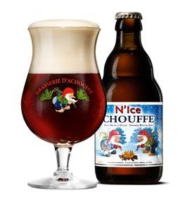 La bière N'ice Chouffe de 33cl et son verre