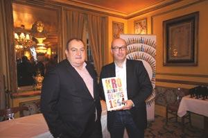 Pascal Brun, Président du Directoire du Groupe Frères Blanc avec Jean Hansmaennel,  Vice-Président Affaires Corporate de Brasseries Kronenbourg