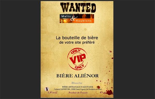 Exemple d'étiquette de bière avec Mabouteille.fr