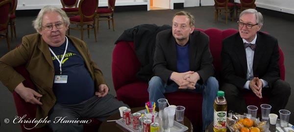 Gilbert Delos, Francois Devos et Hervé Marziou