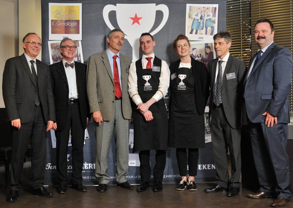 M. Le Proviseur, Hervé Marziou, Mr Panigada, les finalistes, Mr Dugardin, Chef des Travaux