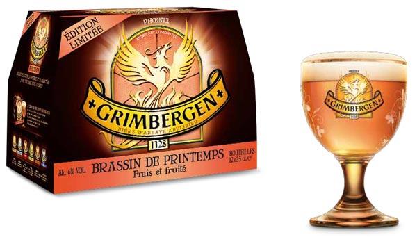 Grimbergen de Printemps 2015, en bouteille et pression