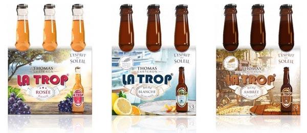 La gammes des bières La Trop de Thomas Carteron