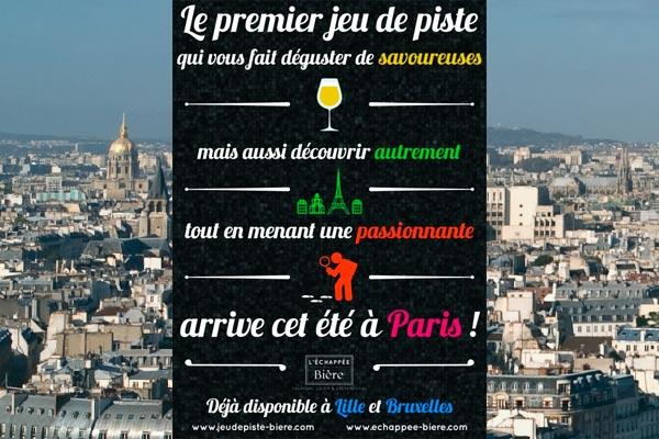 Jeu de piste de l'Echapée Bière à Paris