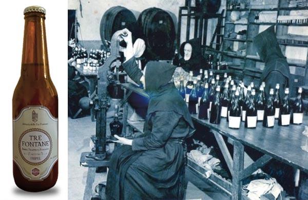 La bière trappiste Tre Fontane Triple