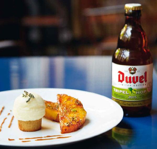 Dessert au sorbet Duvel Tripel Hop