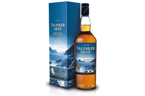 Bouteille de Talisker Skye avec son étui