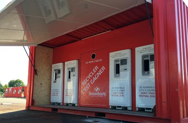 """Le collecteur """"Recycler c'est gagner"""" de Brasseries Kronenbourg"""