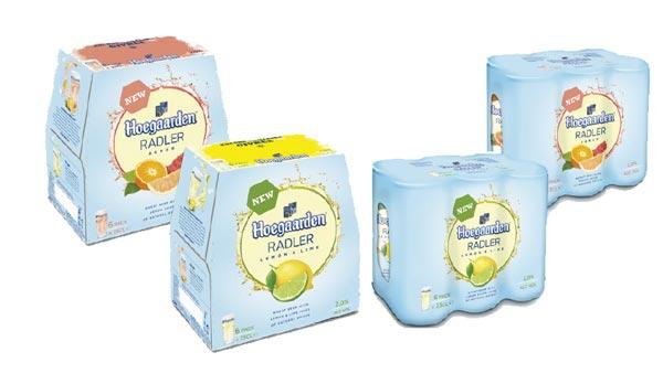 La gamme de Hoegaarden Radler Agrum et Lemon & Lime