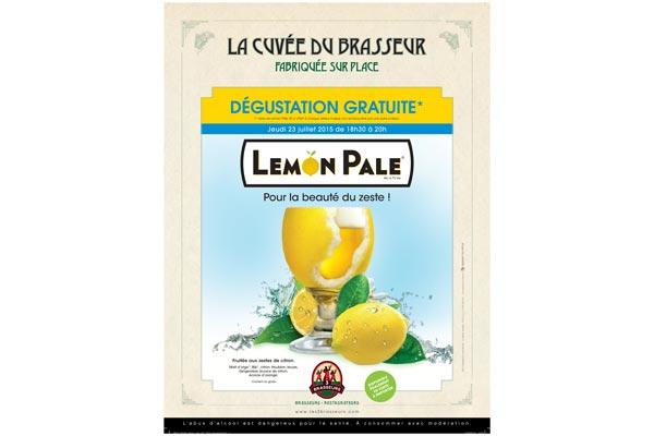 Nouveau brassin Lemon Pale par Les 3 Brasseurs
