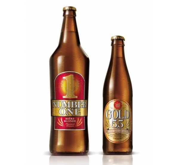 Les Bières Number One et Gold 5.5