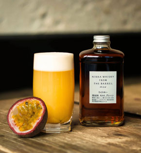Cocktail Asagao Fizz au Nikka from The Barrel