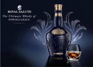 Affiche pour le whisky Royal Salute de Chivas