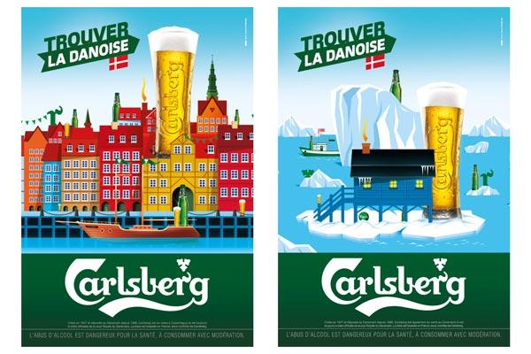 La campagne Trouver la Danoise de l'agence Australie pour la bière Carlsberg