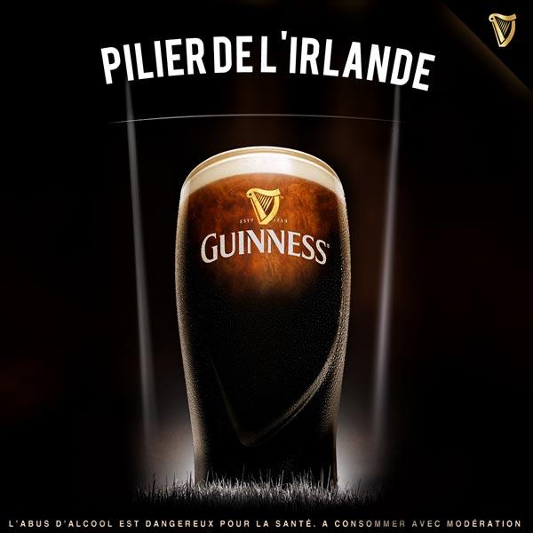Guinness Pilier de l'Irlande pendant la Coupe du Monde de Rugby