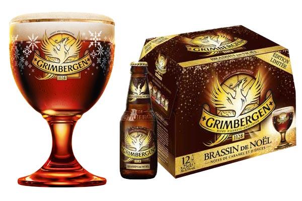 Le pack de Grimbergen Brassin de Noël et son verre calice