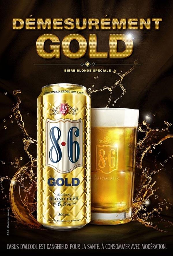 Nouvelle boite de bière Bavaria 8.6 Gold