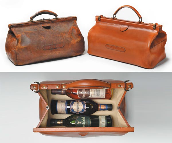 La reproduction du Doctor Bag de Charles Gordon par la maison laContrie pour Glenfiddich