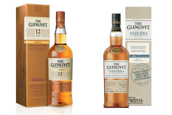 The Glenlivet First Fill 12 ans et Nàdurra Peated