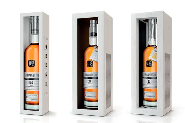 Les whiskies single grain Girvan N°4 Apps., 25 et 30 ans