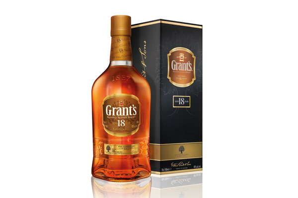Le blended scotch whisky Grant's 18 ans