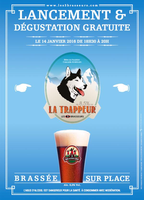 Lancement de la bière Trappeur des 3 Brasseurs