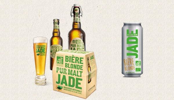 La bière JADE Bio en slim-can