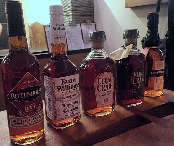 Les whiskey  Heaven-Hill dégustés au Beast
