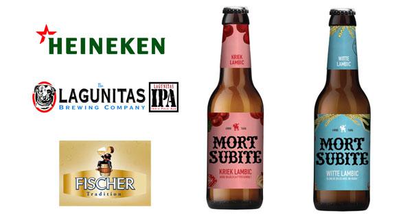 Heineken mise sur ses marques locales telle Fischer mais aussi sur les bières étrangères et typées que sont Lagunitas et Mort-Subite