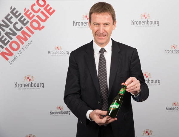 Marc Vermeulen, Président Directeur Général de Kronenbourg SAS présente la nouvelle Tourtel Twist Orange Sanguine ©TLMALP