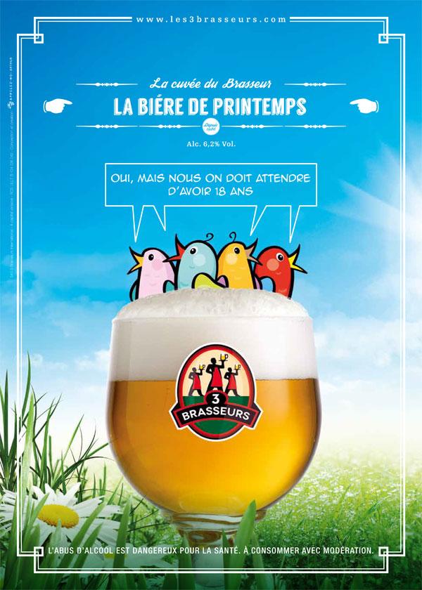 La bière La Printemps des 3 Brasseurs