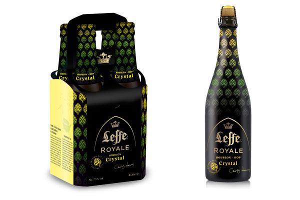 La Leffe Royale Crystal en pack de 4x33c et en bouteille 75cl