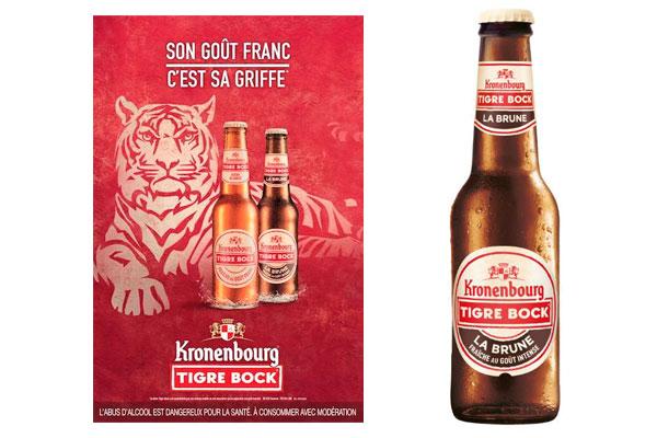 La Tigre Bock Brune et l'affiche promotionnelle