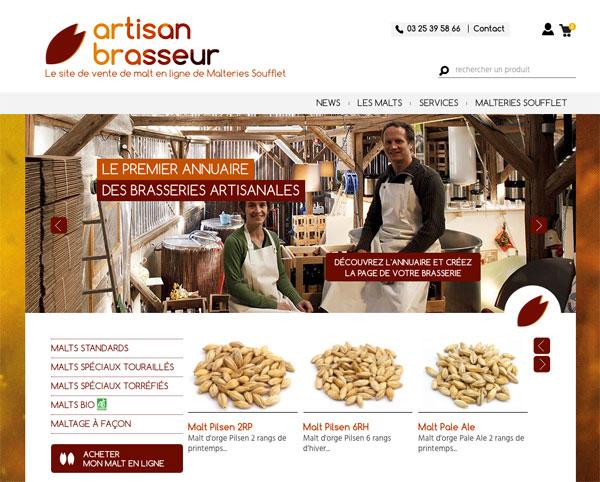 Le nouveau site Artisan Brasseur des Malteries Soufflet
