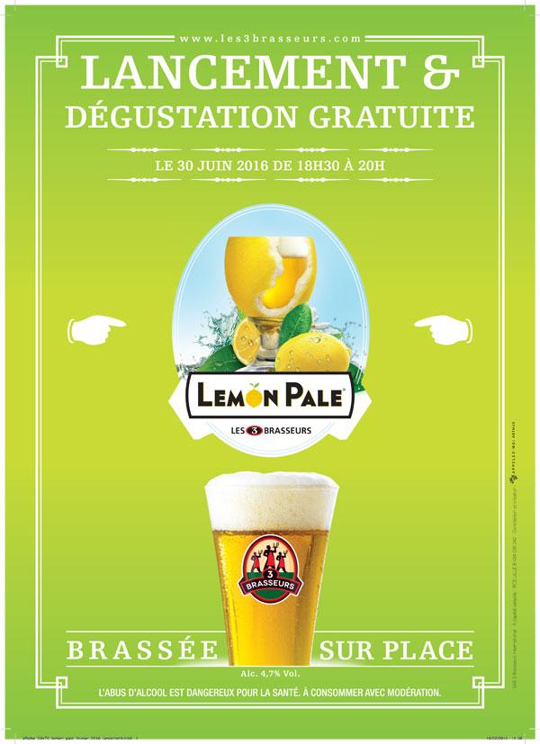 Lancement de la bière Lemon Pale des 3 Brasseurs