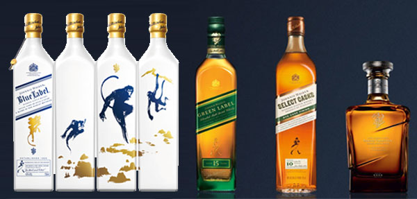 Les blends Johnnie Walker en exclusivité au Whisky Shop
