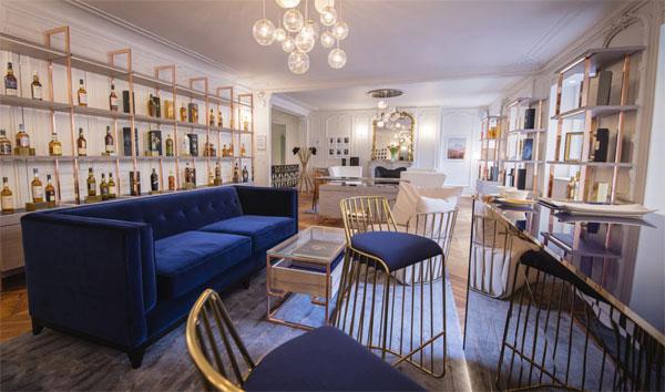 Le salon du Whisky Shop Madeleine